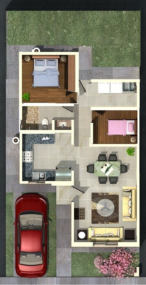 distribucion de casas de 190 m2