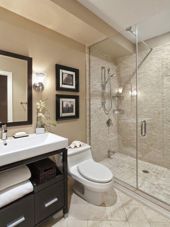 Baños modernos en color beige