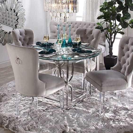 Centros de mesa para comedor de vidrio
