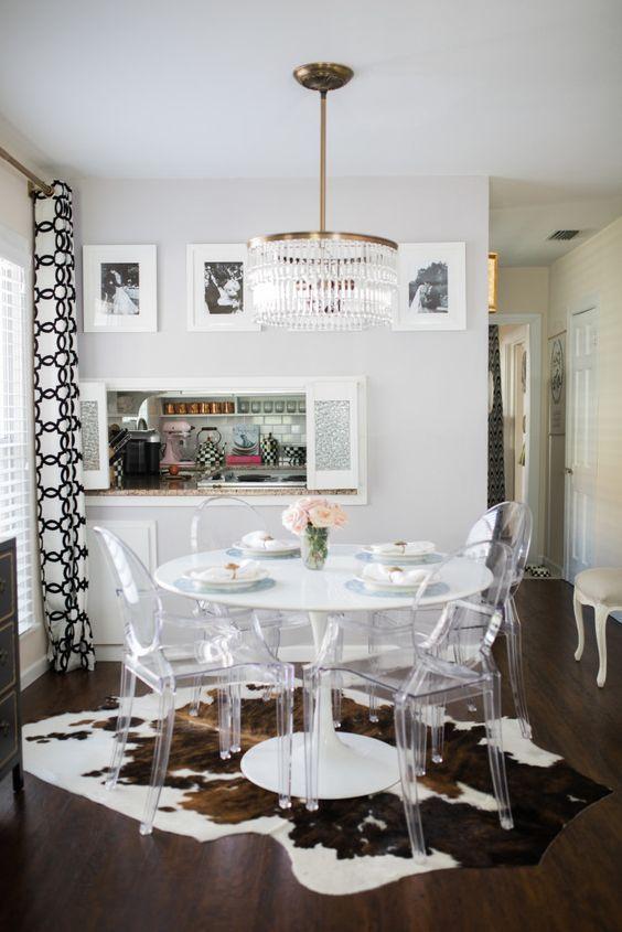 Centros de mesa para comedor moderno