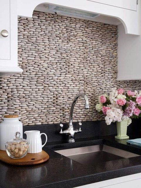 Cocinas modernas con tapiz