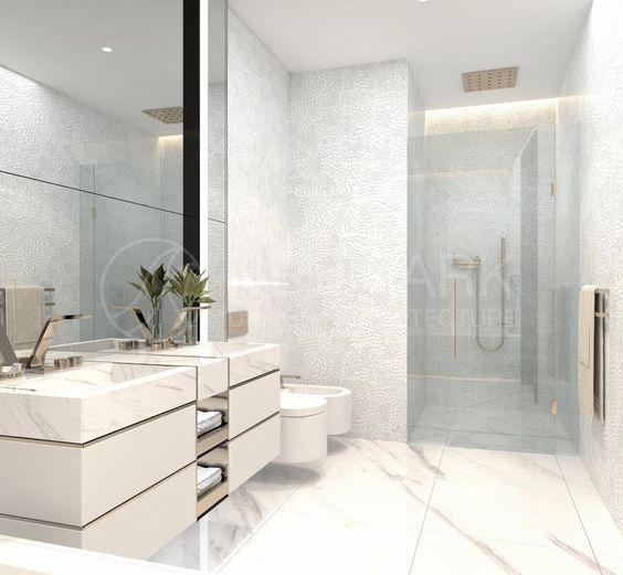 Colores para baño pequeño en blancos puros