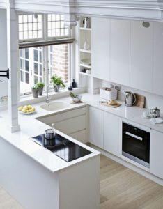 Diseños de cocinas modernas blancas