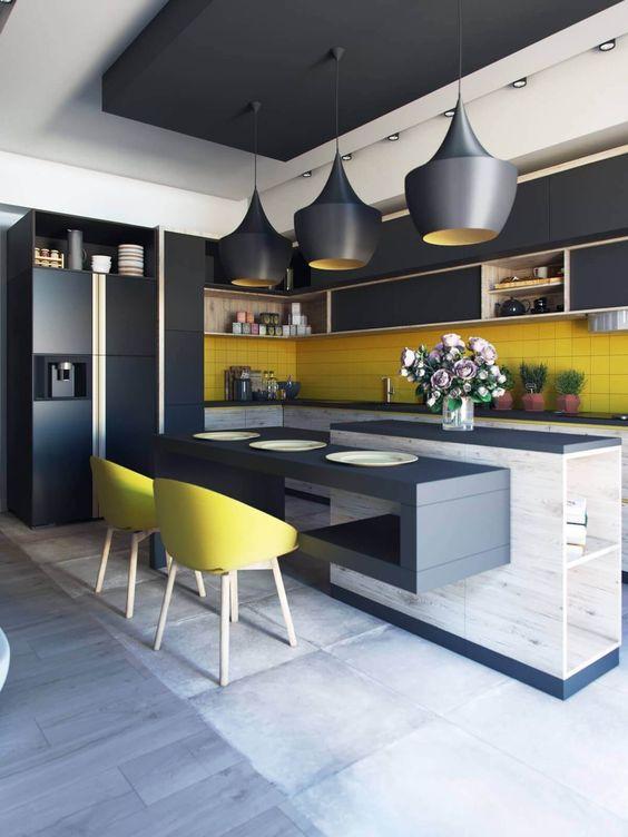 Diseños de cocinas modernas grandes