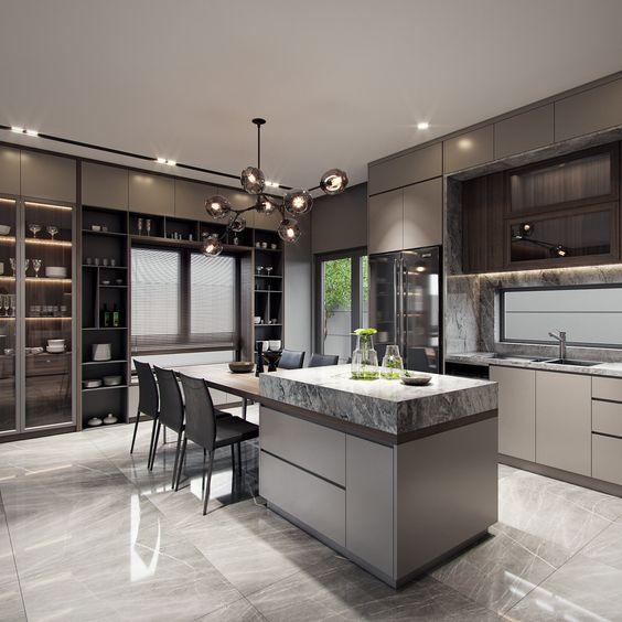 Diseños de cocinas modernas grandes | Decoracion Interiores