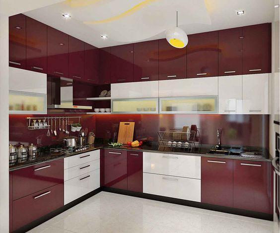 Cocinas combinadas en dos colores