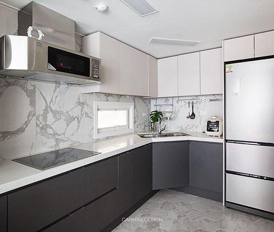 Cocinas en color negro y blanco