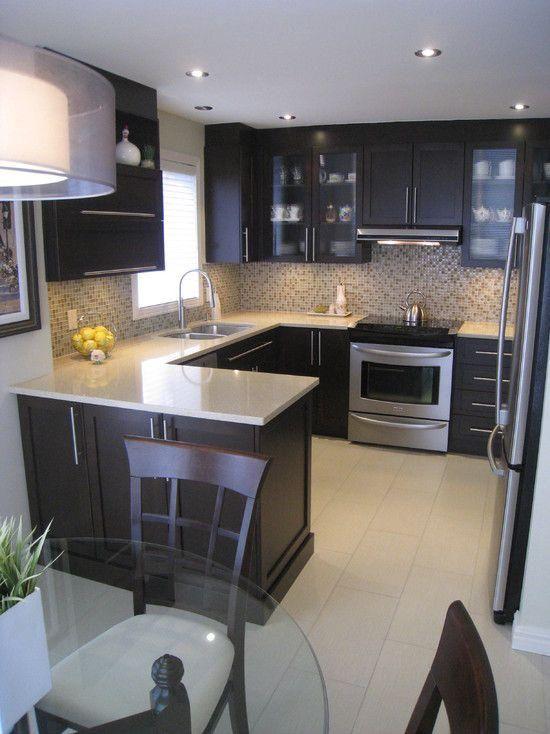 Cocinas integrales pequeñas para casas de infonavit en forma de L
