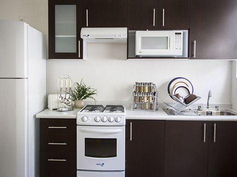 Cocinas pequeñas alargadas para casas de infonavit