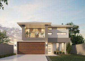 Combinacion de gris y cafe para fachadas modernas