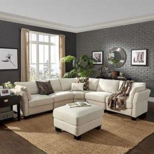 Combinacion gris con cafe en muebles para salas modernas