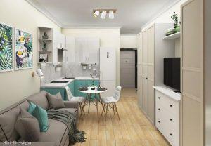 Decoración de sala comedor cocina living pequeños Sala comedor y cocina en un solo ambiente pequeño