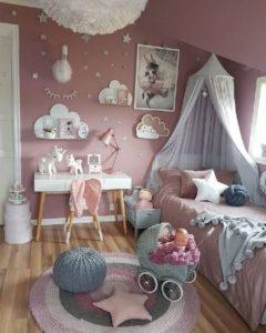 Decoracion de dormitorios tonos rosados