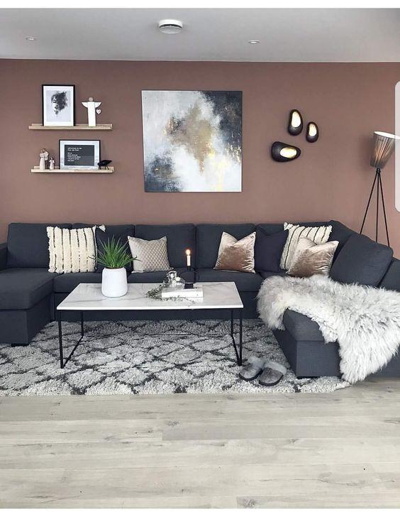 Decoracion de interiores Gris y Cafe 2019