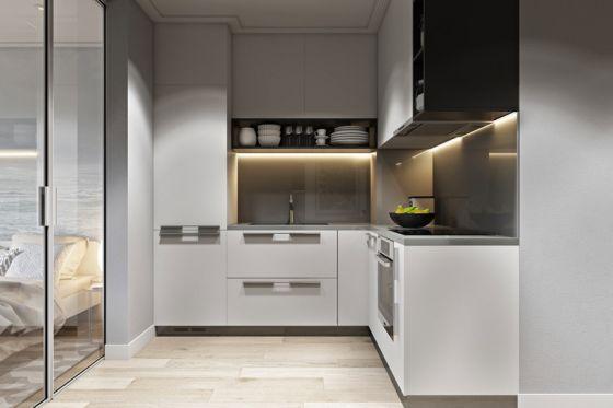 Diseño de cocina en L distribucion