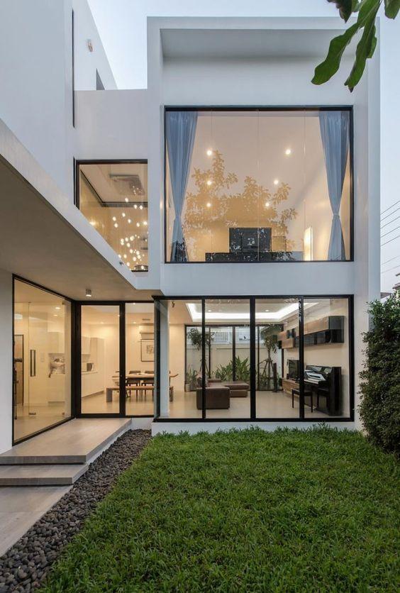 Diseños de ventanas de casas cuadradas
