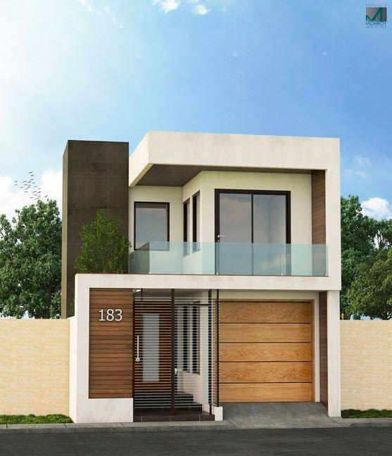 Fachadas de casas pequeñas con balcón