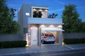 Fachadas de casas pequeñas con portón