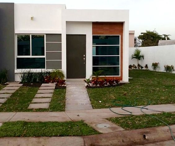 Fachadas de casas pequeñas y bonitas