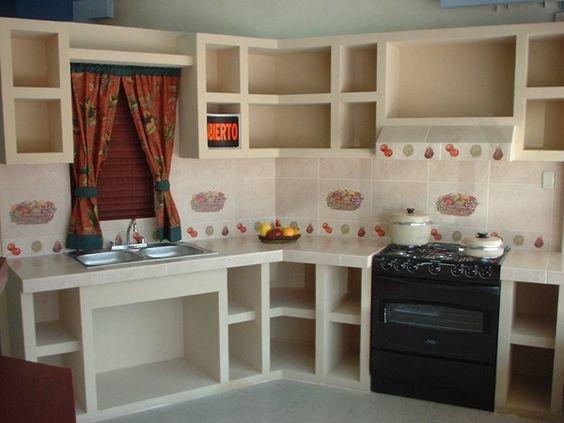 Muebles de tablaroca para cocina