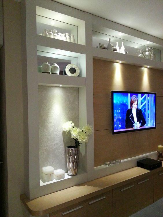 Muebles de tablaroca para tv