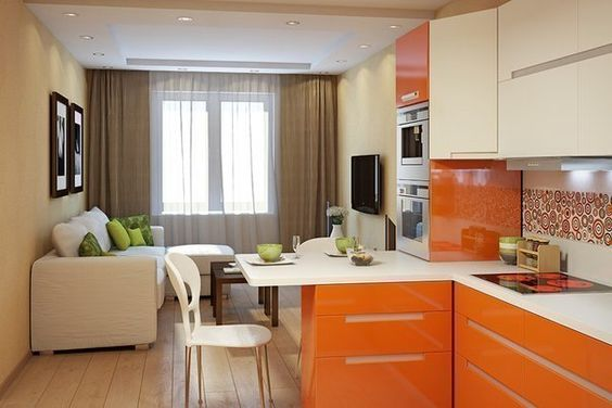 Sala comedor cocina junta estilo clásico moderno ...