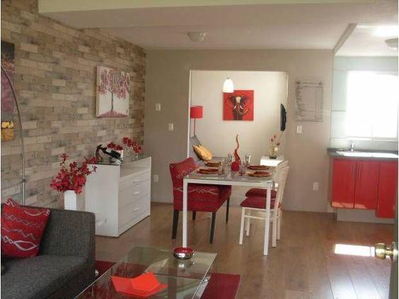 Sala comedor y cocina en un solo ambiente pequeño