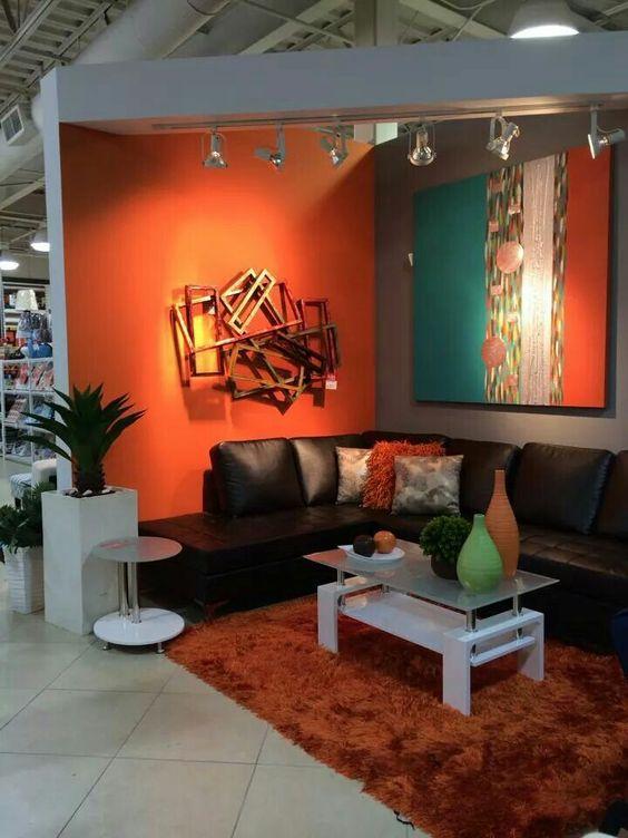 decoracion de paredes para salas color chocolate