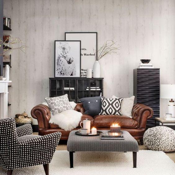 sala cafe con gris