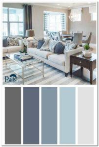 esquemas de colores para decorar salas modernas