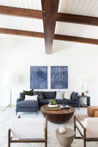 muebles color caoba para salas modernas