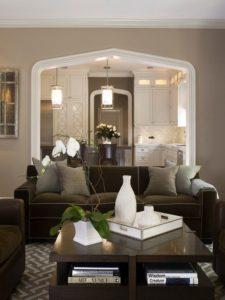 muebles color chocolate para salas clasicas