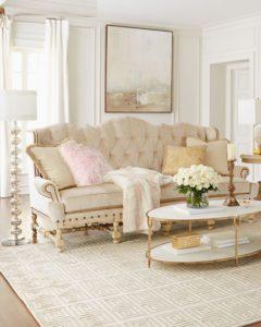 muebles en color blanco para salas clasicas