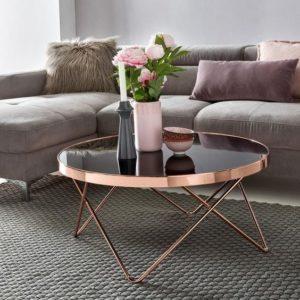 muebles para salas color rosa gold