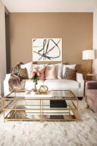 muebles para salas modernas color dorado