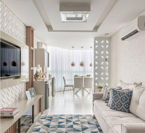 apuesta por una misma textura en las paredes de los pisos pequeños