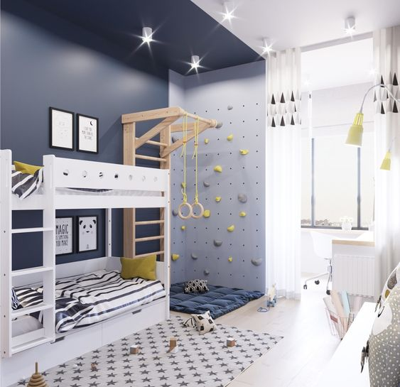 decoracion de cuartos para niños de 6 a 8 anos con espacios ...