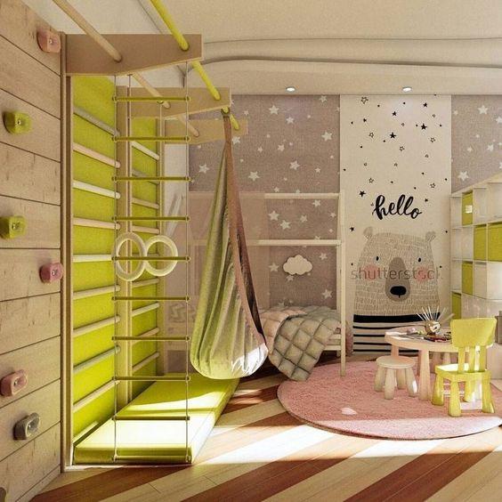 decoracion de cuartos para niños de 6 a 8 anos con espacios de recreacion