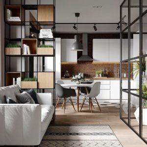 elige integrar dos espacios en una misma habitacion
