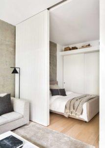 integra puertas corredizas a los apartamentos pequeños