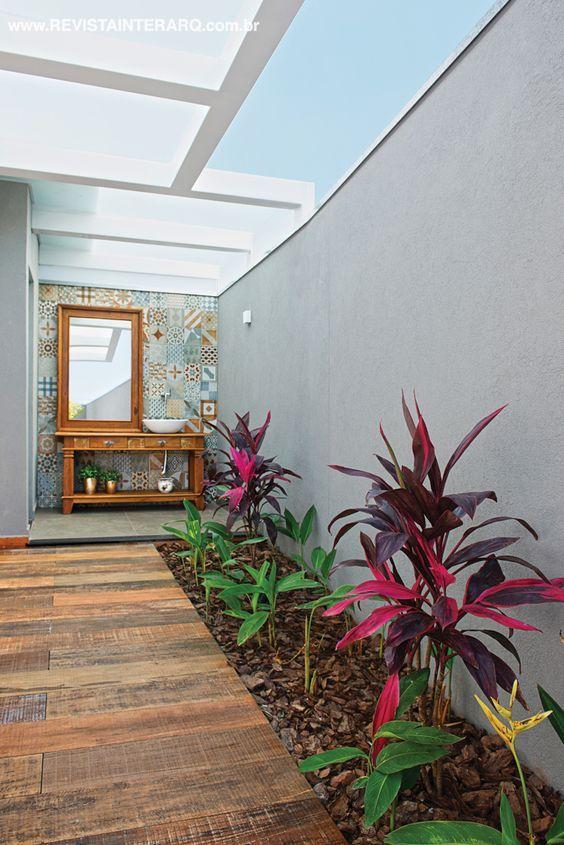 piso de madera para patios pequeños