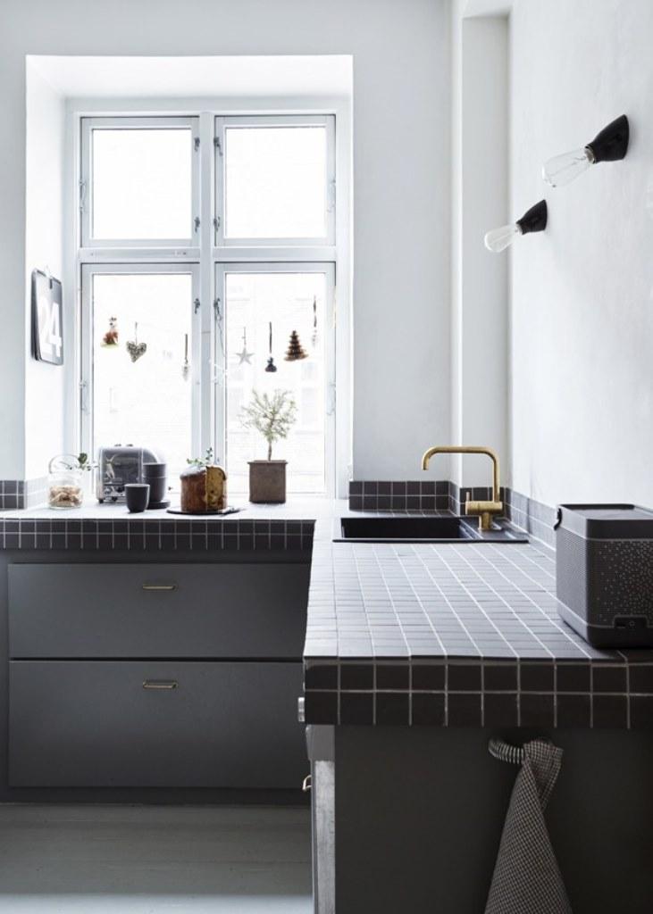 azulejos minimalistas para encimeras de la cocina