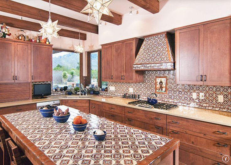 barras de cocina con azulejo