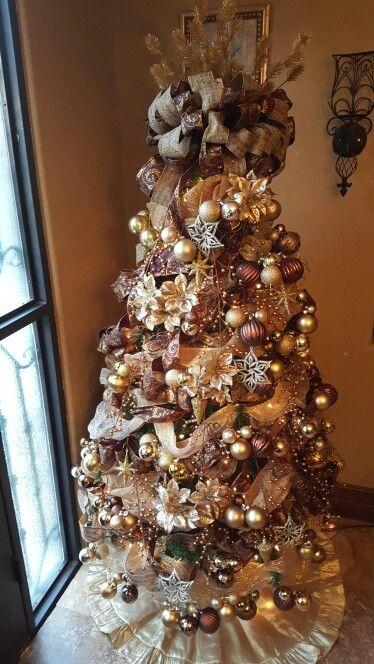 color cobre para decorar la navidad