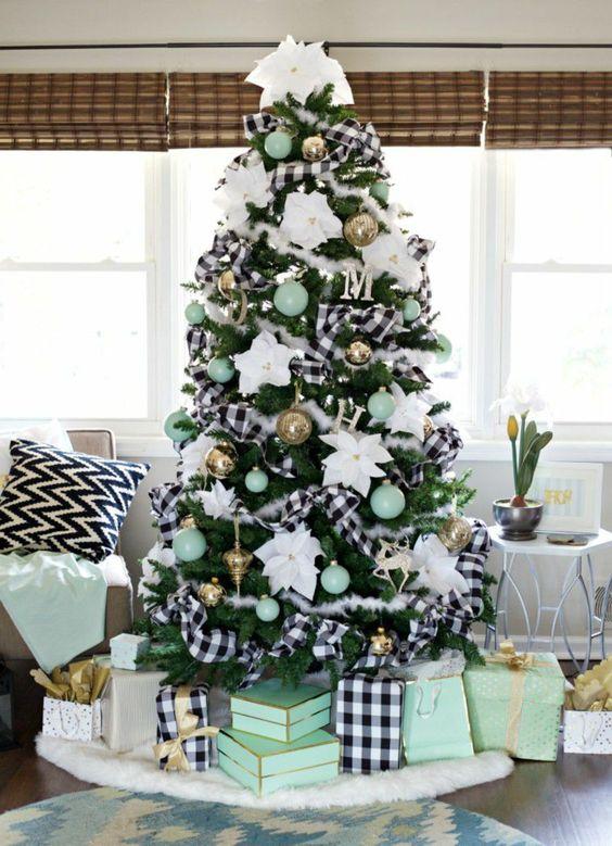 decoracion navideña en color verde