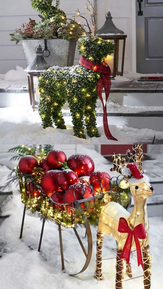 ideas para decorar la navidad en color rojo y dorado