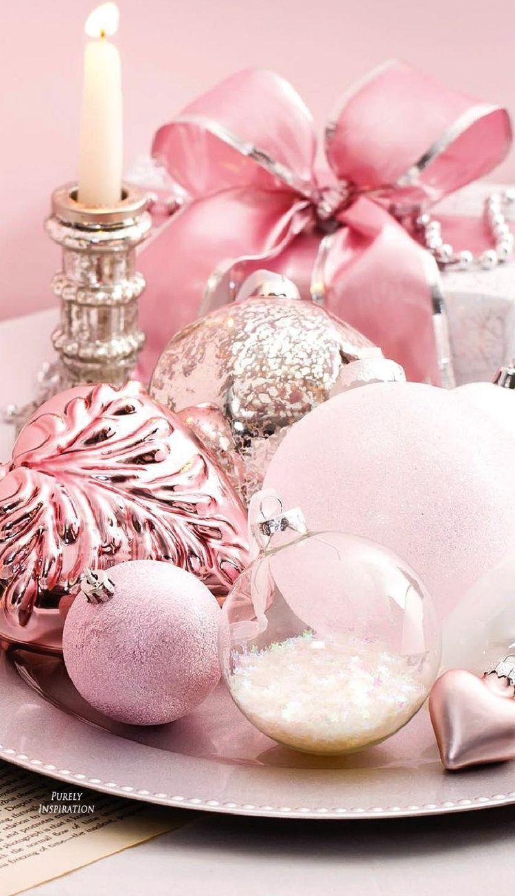 navidad en color rosa