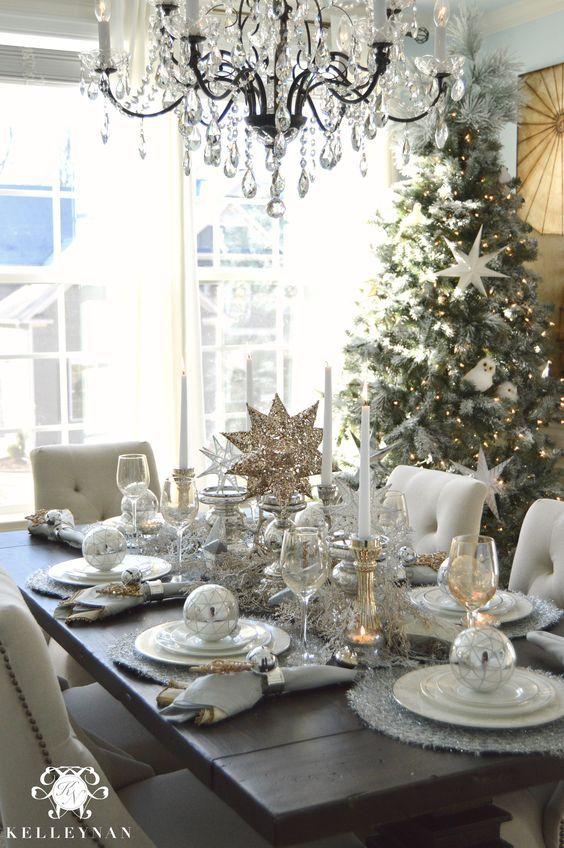 plateado para decorar la navidad