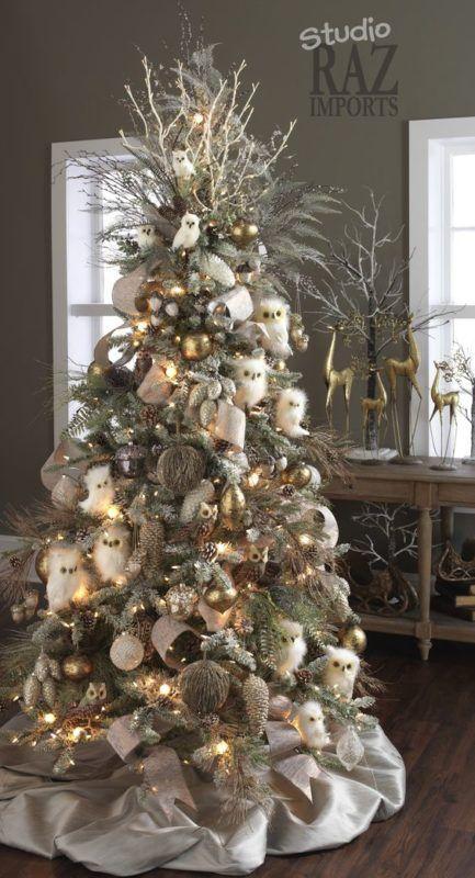 decoracion de arboles de navidad modernos dorado y plata