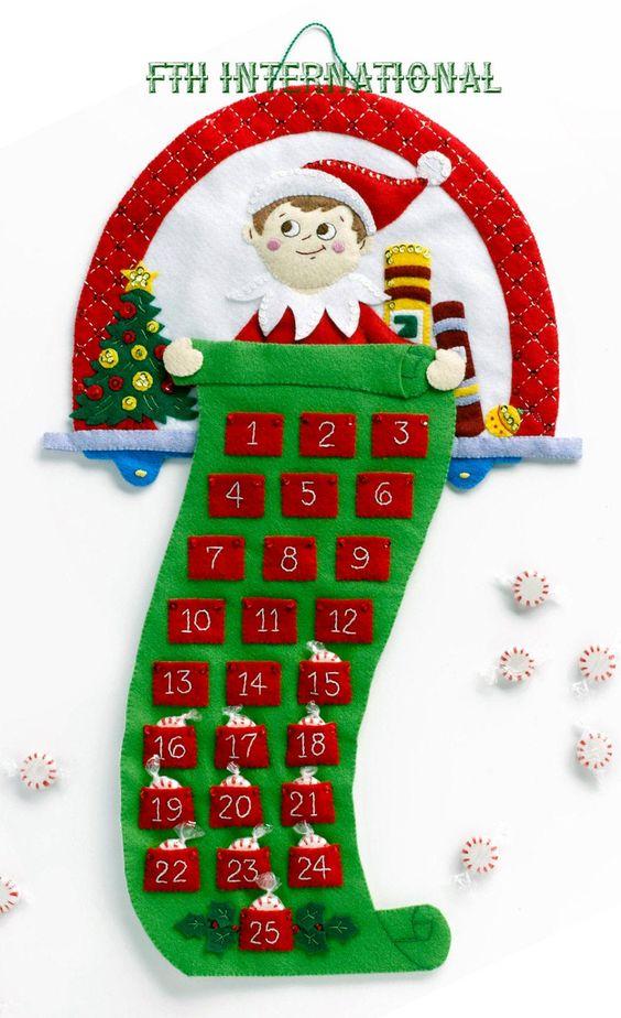 increibles ideas para hacer calendarios navideños